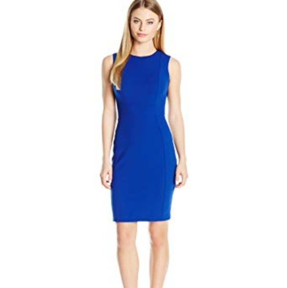 d3044b0cb92e Calvin Klein Dresses & Skirts - Calvin Klein Sheath Dress 8 blue career  office
